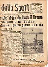LA GAZZETTA DELLO SPORT DEL LUNEDI'  8  MARZO  1943    NR 57