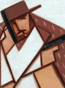 CUBIST CLINT EASTWOOD PAINTING OUTLAW WILD WEST WESTERN WALL ART BY TOMMERVIK