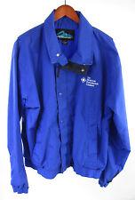Tri-Mountain Mens Blue Nylon Windbreaker jacket The Houston Exploration Co Sz L