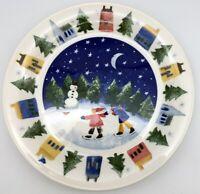 "Nikko Winter Wonderland Set of 2 Dinner Plates 10.75"" across New unused"