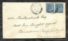 p408 - SINGAPORE 1905 Cover to Canada via Hong Kong, USA. Straits Settlements