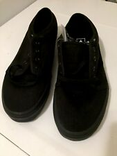 Vans Classic Skate Shoes Mens Size 12 All Black Low Tops Lace New