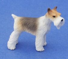 Miniature Dollhouse Fox Terrier Dog 1:12 Scale New A1015