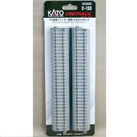 Kato 2-153 Rail Droit / Straight Track Concrete Tie Feeder 246mm 1pcs - HO