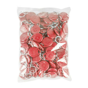 100pcs Red RFID Keychain Tag FOB 125KHz Proximity for Door Access Control Reader