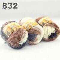 SALE 3x50gr Skeins NEW Chunky Hand-woven Colorful Knitting Scores Wool Yarn 832
