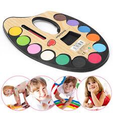 12 Water Colour Watercolour Palette Artist Paint Painting Kids Colouring Brush