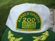 Vintage Barber-Greene Equip Patch Snap Back Mesh Hat Louisville Mfg Co.