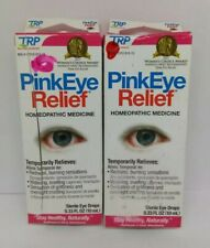 2X TRP Pink Eye Relief Eye Drops Homeopathic Medicine New Sealed Box 07/2020 Lot