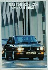 BMW 5 serie folleto de ventas con colores separados guía de febrero de 1987 incluye M535i