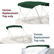 "BIMINI TOP BOAT COVER CANVAS FABRIC GREEN W/BOOT FITS 4 BOW 96""L 54""H 73""-78""W"