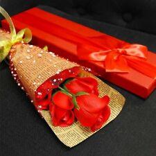 Coffret bouquet de 5 roses en savon Bouquet St valentin