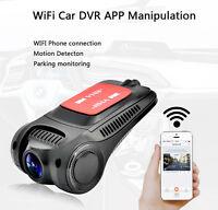 Car Dash Cam Covert DVR Camera Video Recorder Wifi Night Vision Adjustable Lens