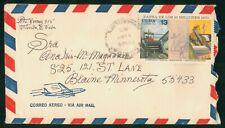 Mayfairstamps Habana 1950s to Blaine Minnesota Airmail cover wwo1395