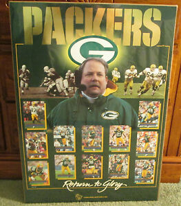 RARE GREEN BAY PACKERS RETURN TO GLORY POSTER 1996 MAN CAVE