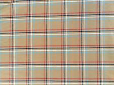 cotton 100% beige check fabric in a Burberryish type style colours