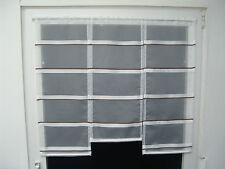 Scheibengardine 90cm Weiß ,Braun L:80,70,80cm  Gardine Scheibengardinen Vorhang
