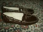 WOMENS SPERRY TOP-SIDER 9824822 BROWN PATENT LEATHER CROC BOAT DECK SHOES 6.5 M