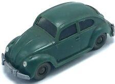 Vtg Wiking 1:87 Scale Plastic VW Bug Beetle Made in Germany Dark Green