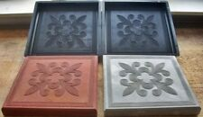 2 Giessformen für Terrassen Platten Orient 30 x 30 x 3 cm - PP Schalungsformen