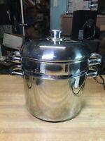 Bayou Classic 64 Qrt 16 Gal Brewing Clam Bake Boil Steamer Pot w// Spigot Faucet