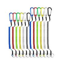Retractable Steel Wire Elastic Lanyard Carabiner Fishing String Spring Rope
