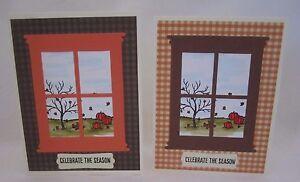 Handmade Thanksgiving/Fall Window 2 Colors Blank Inside U Choose How Many