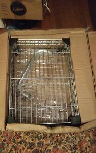 Trinity Ecostorage Bamboo Kitchen Cart TBFZ-1401 Metal Shelf Chrome