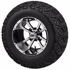 Set of 4 - 22x11.00-10 Tire on a 10x7 Machine/Black Type 7 Wheel w/FREE freight
