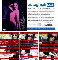 DITA VON TEESE signed Autographed 8X10 PHOTO E - PROOF - SEXY Hot ACOA COA