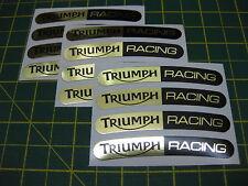 12 Triumph Racing Rueda Llanta pegatinas Espejo Gold & Black