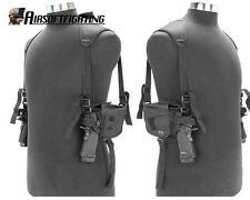 Tactical Left&Right Hand Shortgun Pistol DOUBLE Shoulder Holster Bag Black