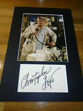 More details for  christopher lloyd back to the future genuine signed autograph uacc / aftal