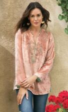NWT Soft Surroundings Moroccan Velvet Tunic Beaded Embrodered Sz PS
