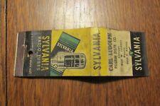 a46 Vintage matchbook cover Sylvania Radio Tubes Carl Ludolph Chicago IL Pilgrim