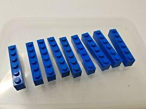 9 x LEGO Blue Bricks - size 1x6