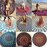Indisch Mandala Runden Strandtuch Tapisserie Hippie Matte Badetuch Wandteppich