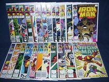 The Invincible Iron Man #251 - #275 with Bag and Board