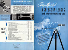 Cine-Kodak Accessory Lenses & Other Movie Making Accessories 1947 Brochure