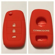 RED SILICONE CAR FLIP KEY COVER CASE VE COMMODORE HOLDEN REMOTE MALOO SS V8 SV6