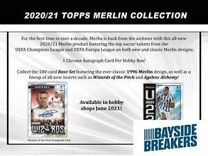 REAL MADRID CF 2020-21 Topps Merlin Chrome UCL Soccer Half Case (6 Box) Break #1