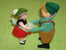 Schuco wind up clockwork Bavarian Tyroleon dancing couple tinplate felt covered