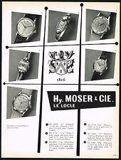 1950s Original Vintage 1953 Hy Moser & Cie Watch Co. Wrist Watch Models Print AD