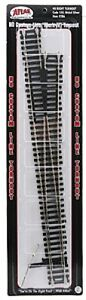 Atlas #286  #8 Right-Hand Mark IV Turnout Track - Code 100 Rails - HO Scale