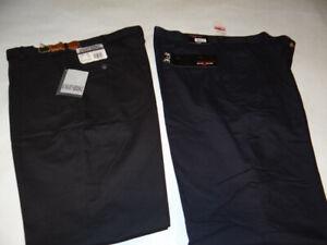 2 lot  of Men's Casual Dress Black  Slacks NIGHTBRIDGE with Tags 36L x 34W