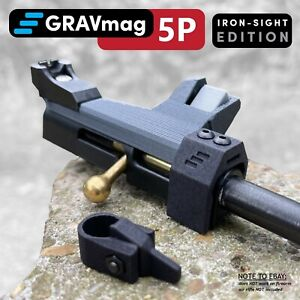 GRAVmag 5P Magazine For Crosman 2240 2250 Ratcatcher Plastic Breech IRON SIGHT