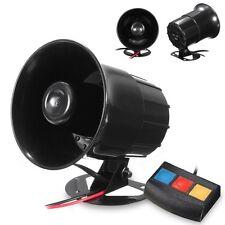 3 Sound Loud Car Motorcycle Warning Alarm Police Fire Siren Horn Speaker System
