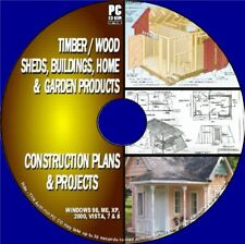1000+ Sheds/Cabins/Wooden buildings plan Timber Home/Garden Blueprints PCCD Rome
