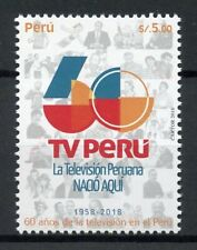Peru Stamps 2018 MNH TV Peru Television Technology Communication 1v Set