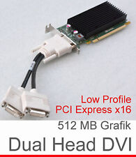 Silent Graphic Card Pci-E 512mb Ram Nvidia Quadro Nvs300 Low Profile Dms-59 G14+